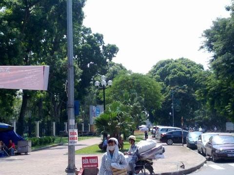 Xén công viên làm bãi xe: Chủ tịch HN nói gì?, Tin tức trong ngày, bai do xe, cong vien, xen dat cong vien lam bai do xe, cong vien thong nhat, la phoi xanh, bao, tin tuc, tin hot, tin hay, vn