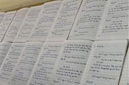 Học sinh lớp 1 Bản Xàn, Trường Tiểu học Hữu Khuông, huyện Tương Dương (Ảnh Phòng Giáo dục cung cấp)