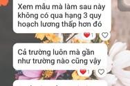 Công văn về việc đăng ký học chứng chỉ chức danh nghề nghiệp Sở Giáo dục tỉnh Bình Thuận gửi về các trường học (Ảnh tác giả)