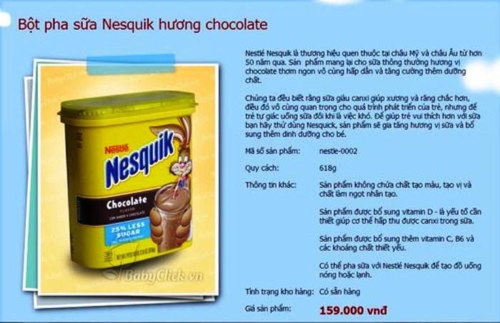 Nestle thu hồi sữa bột Nesquik vì lo ngại nhiễm khuẩn
