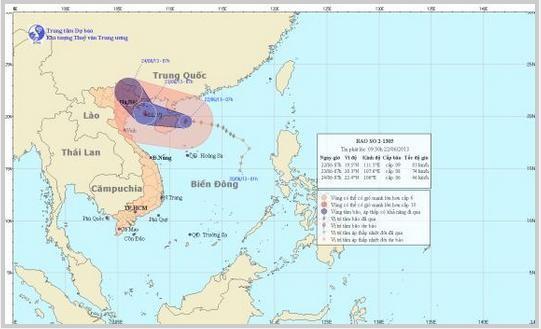 Cơn bão số 2: Thanh Hóa vẫn còn 9 tàu đánh bắt cá ở vùng Vịnh Bắc Bộ