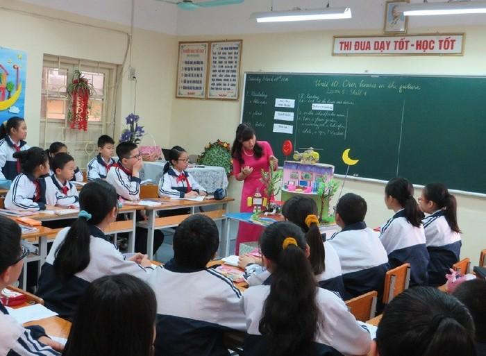 Một lớp học tham dự thi giáo viên dạy giỏi (Ảnh: Cổng thông tin điện tử Hải Phòng)