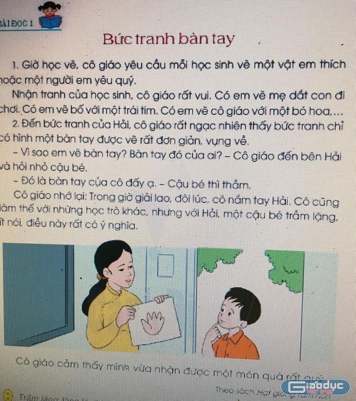 Tiếng Việt 2 Cánh Diều có nhiều bài đọc lấy từ sách giáo khoa 2000