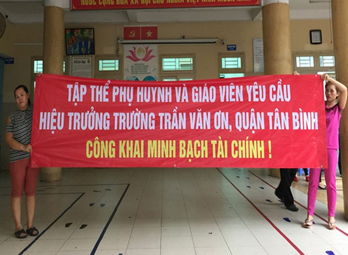 Phụ huynh Tiểu học Trần Văn Ơn yêu cầu trường minh bạch thu chi