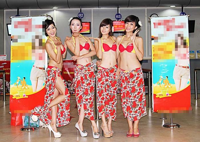 VietJetAir bị phạt 20 triệu đồng vì màn trình diễn bikini trên máy bay