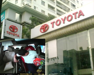 Toyota Láng Hạ đình chỉ nhân viên trộm đồ của khách trên xe ô tô