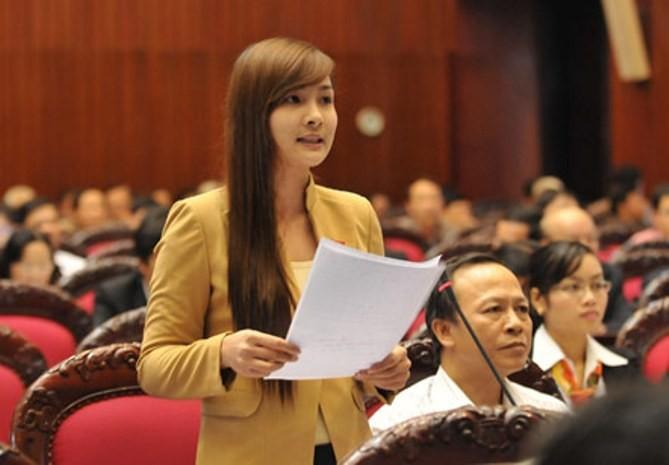 Ảnh: Nữ đại biểu Quốc hội