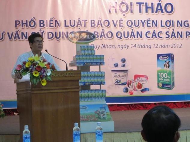 Vinamilk tư vấn NTD Bình Định tránh