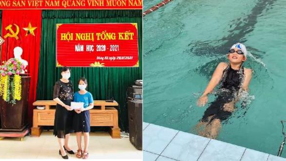 Hai nữ sinh tiểu học ở Quảng Trị dùng phần thưởng ủng hộ y, bác sĩ ở Bắc Giang