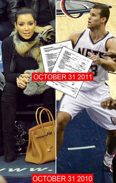 Kim Kardashian đệ đơn ly dị chồng đúng vào ngày cách đây 1 năm cô lần đầu gặp Kris Humphries.