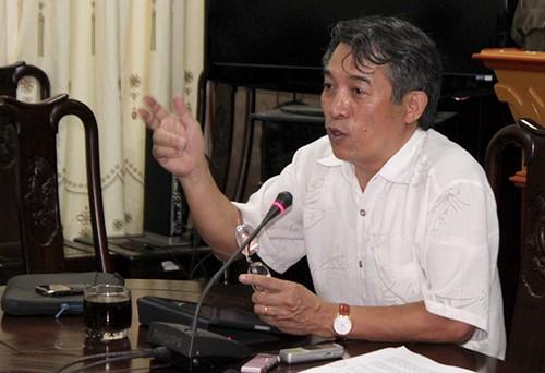 Ông Phạm Quang Long, giám đốc Sở Văn hóa, Thể thao & Du lịch Hà Nội trong buổi họp báo chiều 7/11.