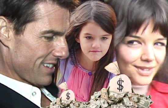 Katie chỉ đề nghị tiền trợ cấp nuôi con từ Tom Cruise.