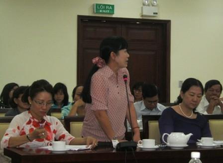 Bà Lê Thị Ngọc Điệp - hiệu trưởng Trường tiểu học Nguyễn Bỉnh Khiêm, Q.1, TPHCM