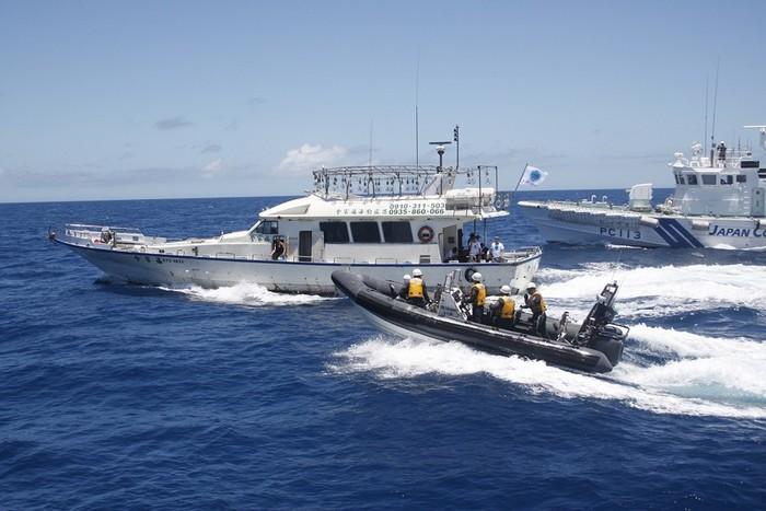 Ảnh: Nhật Bản phái tàu đuổi tàu cá Đài Loan ra khỏi khu vực Senkaku