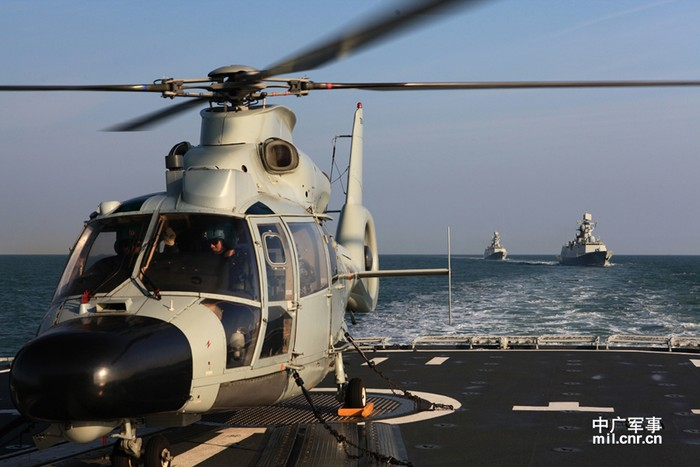 3 tàu chiến Trung Quốc diễn tập