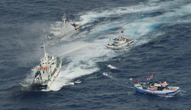 3 tàu Hải giám TQ bủa vây 1 tàu cá Nhật Bản trên Biển Hoa Đông