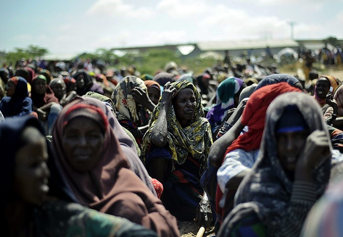 Những phụ nữ tại trại tị nạn ở Mogadishu, Somalia.