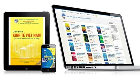 Chỉ với một máy tính bảng, sinh viên có thể đem hàng trăm cuốn giáo trình đến lớp để thuận tiện trong học tập và tra cứu thông tin.