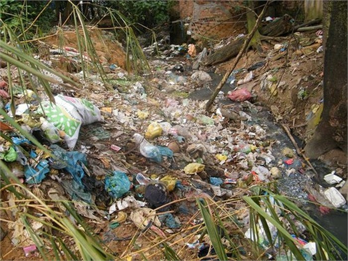 SV làng ĐH ăn bẩn, sống bẩn với 'núi rác' khổng lồ