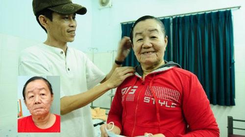 Chị Nguyễn Thị Phượng lúc mới nhập viện (ảnh nhỏ) và trước giờ xuất viện