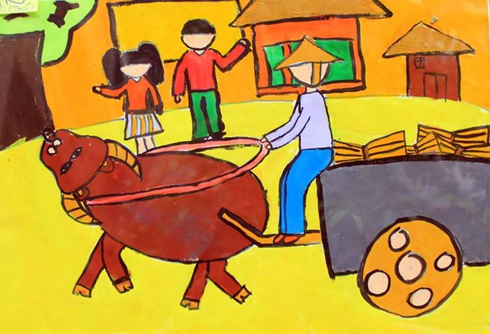 Chùm ảnh: Ước mơ của trẻ thơ qua tranh vẽ
