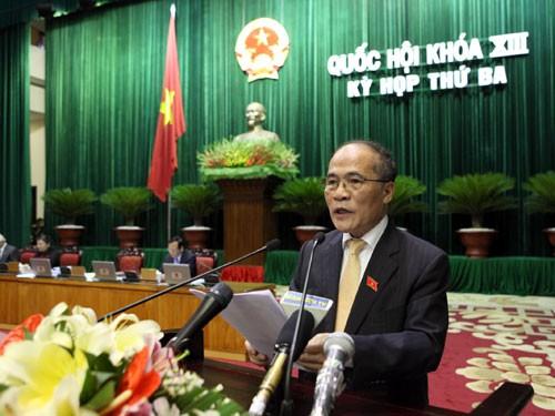Chủ tịch QH Nguyễn Sinh Hùng phát biểu bế mạc kỳ họp