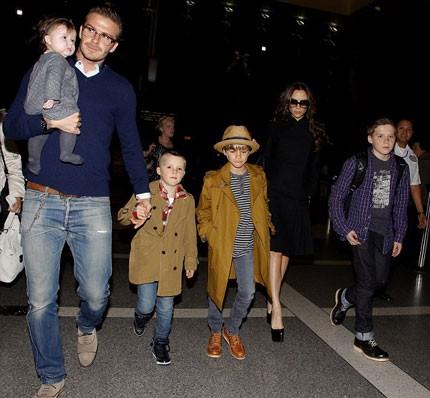 Đại gia đình Beckham với bốn đứa con.