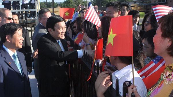 Chủ tịch nước Trương Tấn Sang đến thủ đô Washington, Hoa Kỳ