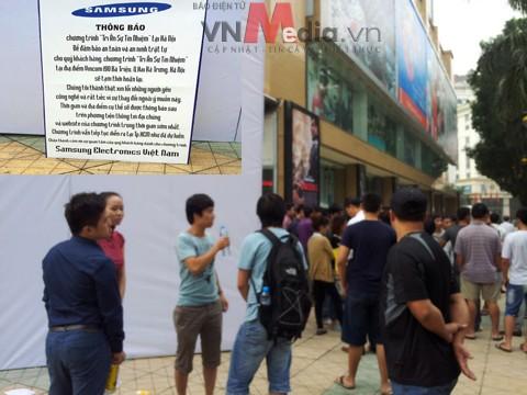 Hàng trăm khách hàng bị hành hạ vì chương trình tri ân của Samsung VN