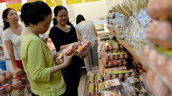 CP giảm giá trứng, siêu thị vẫn
