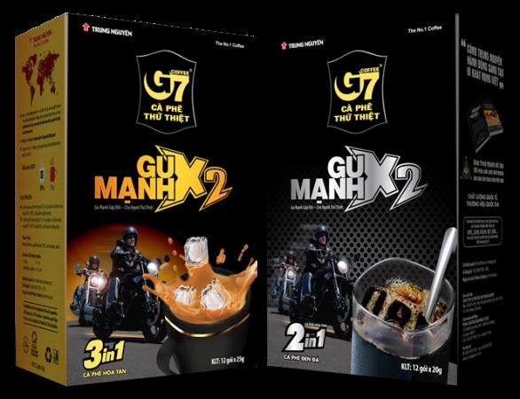Trung Nguyên tung át chủ bài G7-Gu mạnh X2 cho người thứ thiệt