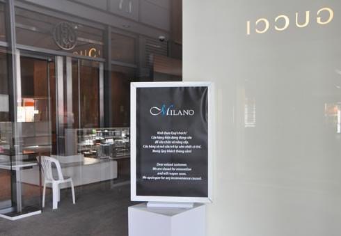 Cửa hàng Gucci&Milano thông báo đóng cửa, hàng hiệu thanh lý ế ẩm