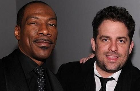 Eddie Murphy và bạn thân Brett Ratner, nhà sản xuất truyền hình của giải Oscar vừa từ chức cuối tuần trước. Ảnh: Zimbio.