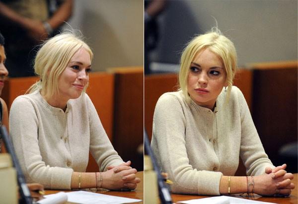 Tuy nhiên, ở một góc nghiêng, máy ảnh đã ghi lại được chiếc cằm chảy xệ của Lindsay dù cô mới 25 tuổi.