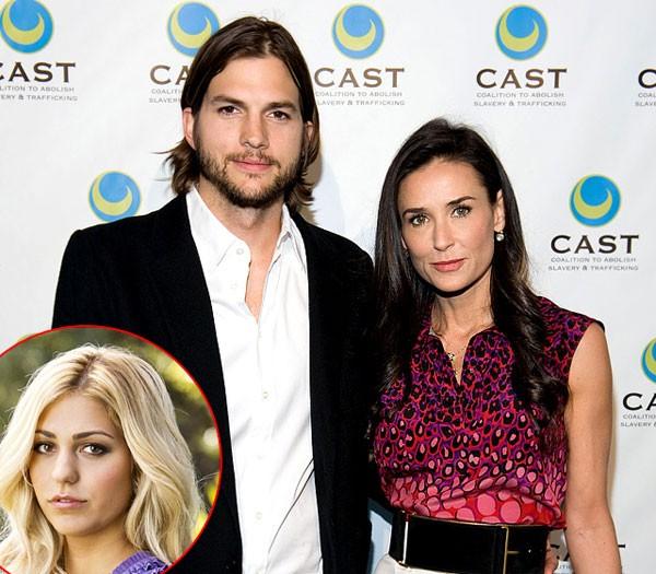 Ashton Kutcher (33 tuổi) lừa dối Demi Moore (49 tuổi) khi qua đêm với cô gái trẻ, Sara Leal, vào đúng ngày kỷ niệm 6 năm ngày cưới. Sự việc bị báo giới phanh phui và làm ầm ĩ trong một thời gian dài. Demi Moore dù đã cố gắng cứu vãn hôn nhân nhưng cuối cùng cũng không thể tha thứ cho chồng và quyết định thông báo ly hôn. Demi Moore nói trong thông báo ly hôn với báo giới: 'Là một người phụ nữ, người mẹ, người vợ, tôi thấy rằng có những giá trị nhất định và những lời thề thiêng liêng cần được giữ gìn. Và với tinh thần ấy, tôi đã lựa chọn bước về phía trước, không quay đầu nhìn lại.'